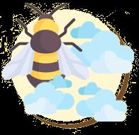 A abelha realiza cerca de 40 voos todos os dias em busca de seu alimento.