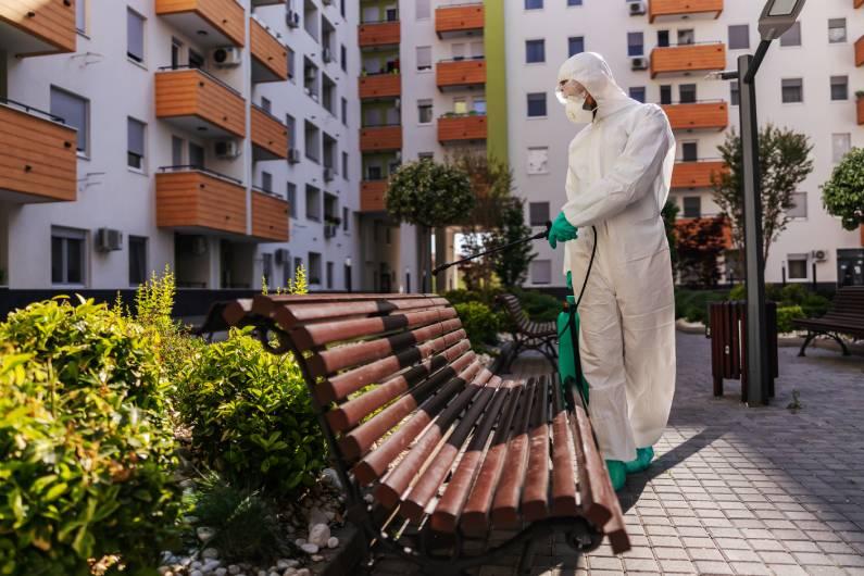 Sanitização para prevenção do coronavírus em Curitiba